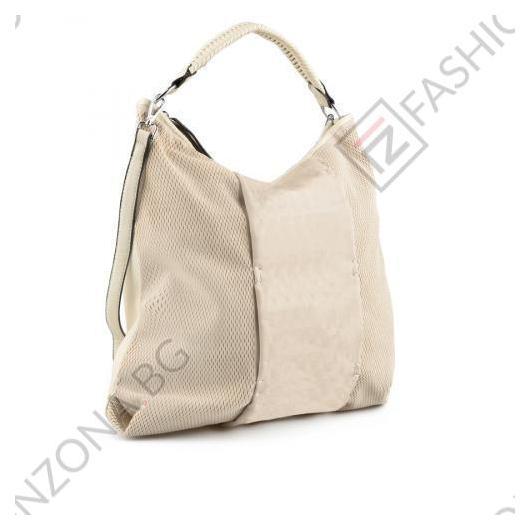 Бежова дамска ежедневна чанта Kiera