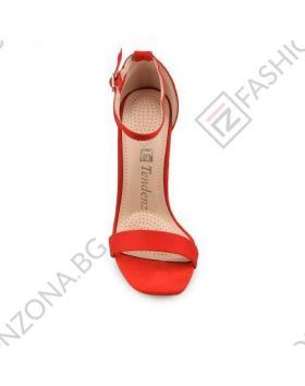 Червени дамски елегантни сандали Layla в online магазин Fashionzona