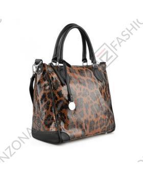 Кафява дамска ежедневна чанта Cathy в online магазин Fashionzona