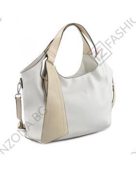 Бяла дамска ежедневна чанта Kerry в online магазин Fashionzona