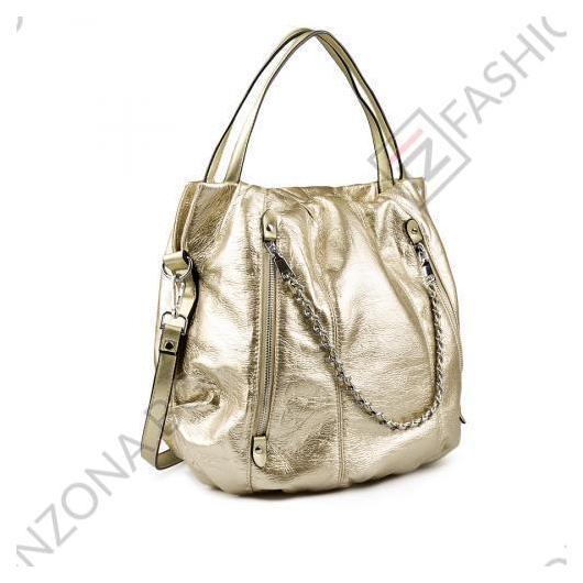 Златиста дамска ежедневна чанта Collins