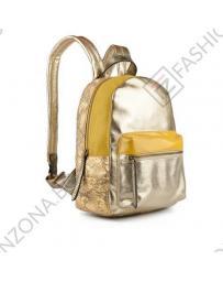 Златиста дамска раница Silvia в online магазин Fashionzona