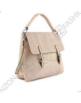 Бежова дамска ежедневна чанта Whitney в online магазин Fashionzona