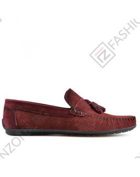 Тъмно червени мъжки ежедневни обувки Ernesto в online магазин Fashionzona