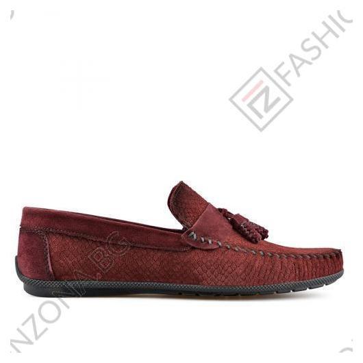 Тъмно червени мъжки ежедневни обувки Ernesto