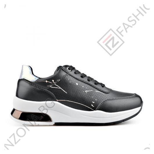 Черни дамски ежедневни обувки Georgina