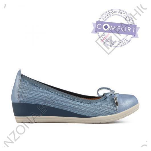 Сини дамски ежедневни обувки Jerri