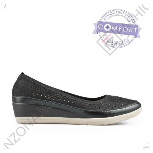 Черни дамски ежедневни обувки Naya