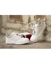 Бели дамски ежедневни обувки Freda