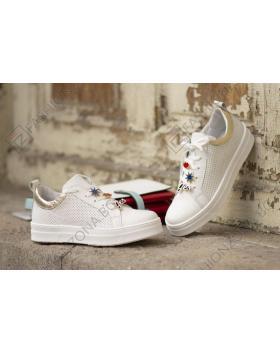 53c4bf92cda Бели дамски ежедневни обувки Freda в online магазин Fashionzona