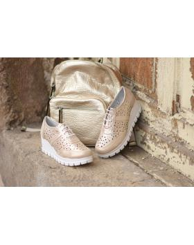 Златисти дамски ежедневни обувки Freya в online магазин Fashionzona
