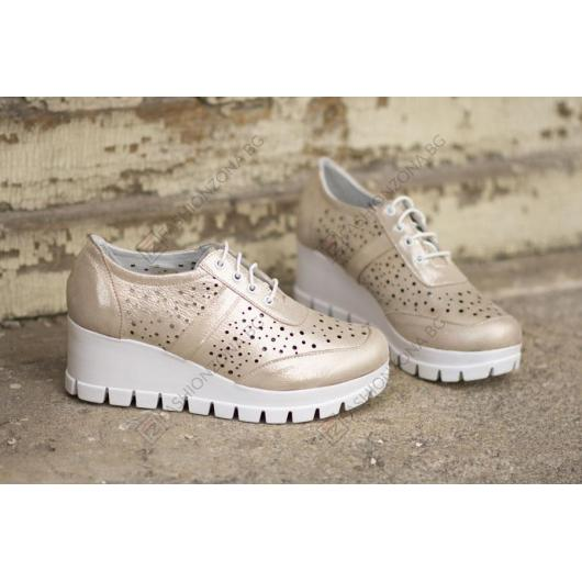 Златисти дамски ежедневни обувки Freya