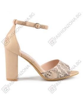 Бежови дамски елегантни сандали Addyson в online магазин Fashionzona