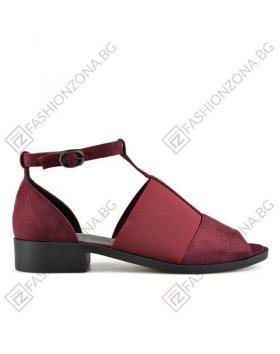 Червени дамски ежедневни сандали в online магазин Fashionzona