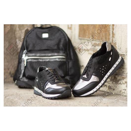 Черни дамски ежедневни обувки Vickie