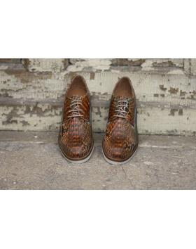 Кафяви дамски ежедневни обувки Amira в online магазин Fashionzona