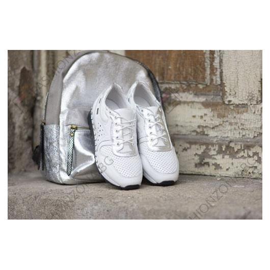Бели дамски ежедневни обувки Deann