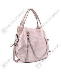 Розова дамска ежедневна чанта