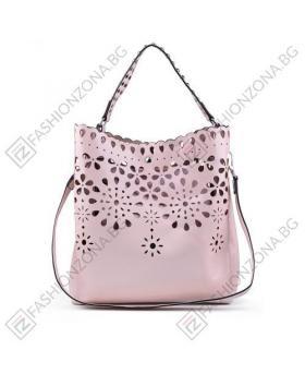 Розова дамска ежедневна чанта Leyla в online магазин Fashionzona