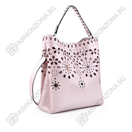 Розова дамска ежедневна чанта Leyla