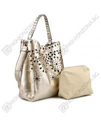 Златиста дамска ежедневна чанта Raegan в online магазин Fashionzona