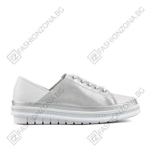 Бели дамски ежедневни обувки Kseniya
