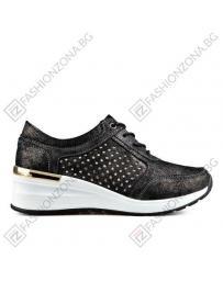 Черни дамски ежедневни обувки
