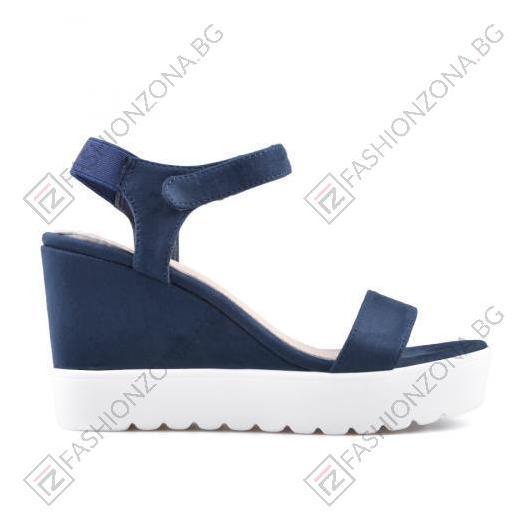 Сини дамски ежедневни сандали Leighton