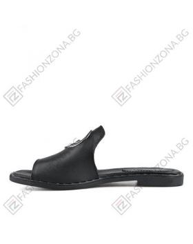 Черни дамски ежедневни чехли Erma в online магазин Fashionzona