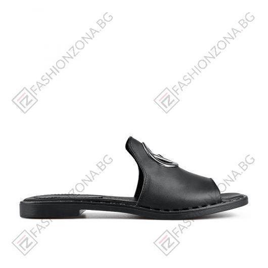 Черни дамски ежедневни чехли Erma