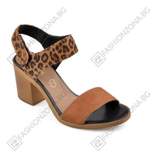 Кафяви дамски елегантни сандали Lilia