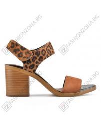 Кафяви дамски елегантни сандали Lilia в online магазин Fashionzona