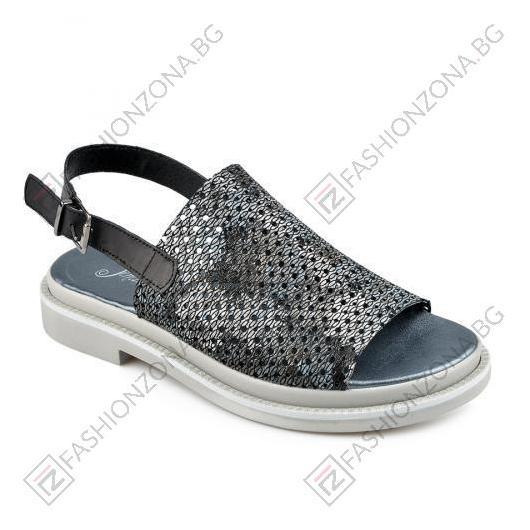 Черни дамски ежедневни сандали Keyla