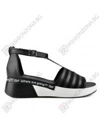 Черни дамски ежедневни сандали
