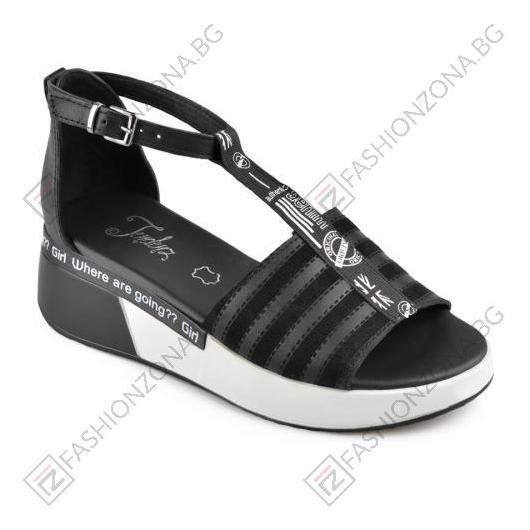 Черни дамски ежедневни сандали Aranza