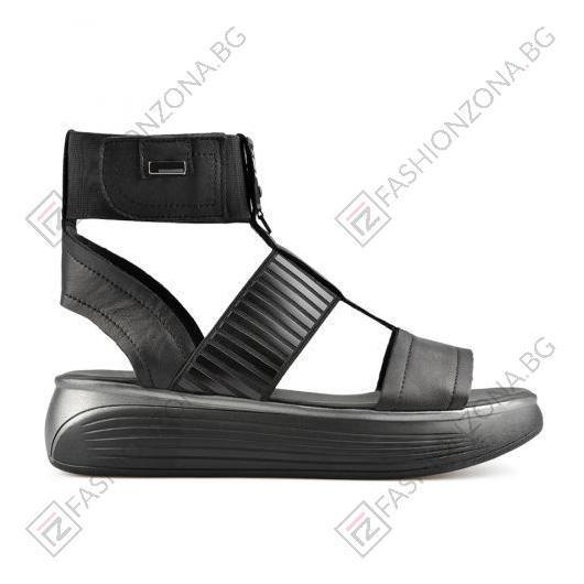 Черни дамски ежедневни сандали Corine