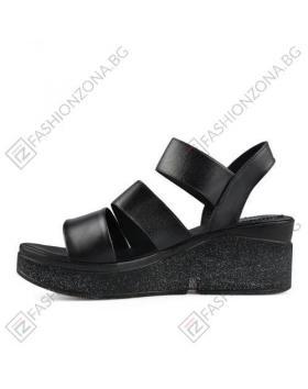 Черни дамски ежедневни сандали Sarah в online магазин Fashionzona