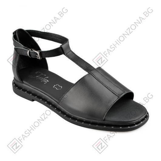 Черни дамски ежедневни сандали Gwendolyn