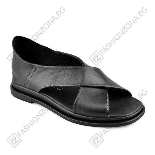 Черни дамски ежедневни сандали Sue