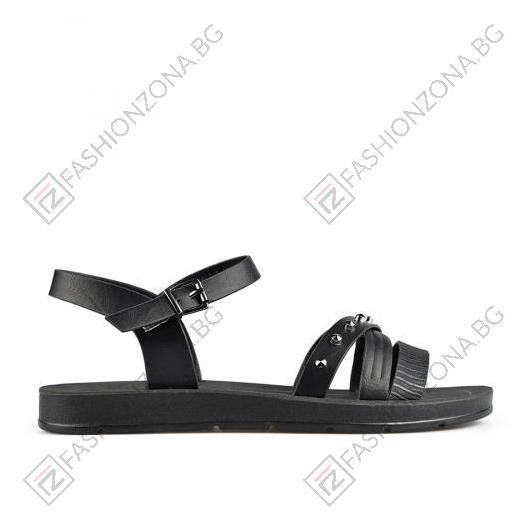 Черни дамски ежедневни сандали Tanisha