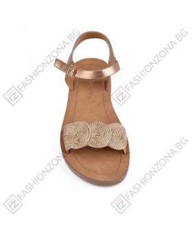 Златисти дамски ежедневни сандали Rosemary в online магазин Fashionzona
