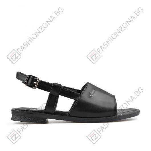 Черни дамски ежедневни сандали Shelley