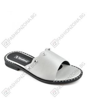 Бели дамски ежедневни чехли Alina в online магазин Fashionzona
