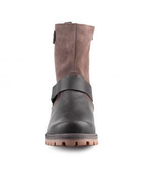 мъжки ежедневни кафяви боти с топъл агнешки хастар 0127115