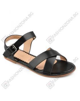 Черни дамски ежедневни сандали Ruth в online магазин Fashionzona