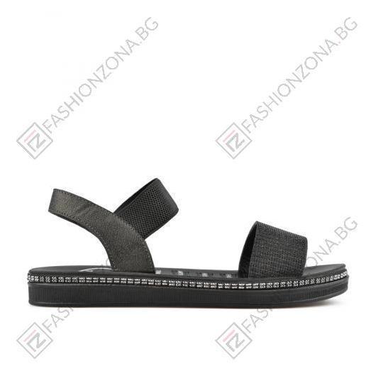 Черни дамски ежедневни сандали Astrid