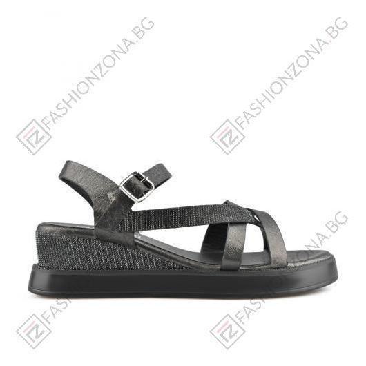 Черни дамски ежедневни сандали Margret