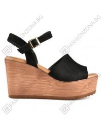 Черни дамски ежедневни сандали Reba в online магазин Fashionzona
