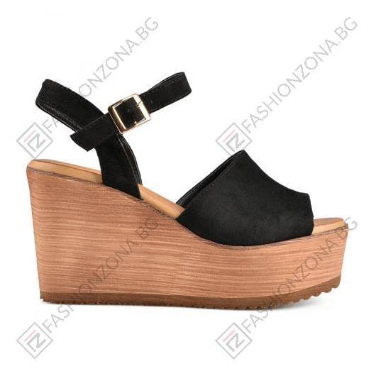Черни дамски ежедневни сандали Reba
