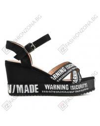Черни дамски ежедневни сандали Riya в online магазин Fashionzona